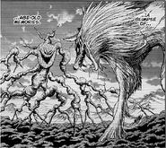 Four beast vs Anciet battle wolf