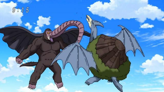 File:Elephant Kong and Mountainsaurus fight.jpg