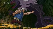 Jirou using Knocking on Demon Devil Serpent