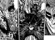 Zebra using Onsoku Idou to get behind Nitro and punch him