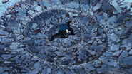 Jirou shatters the floor