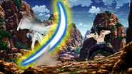 Toriko counterattacks with Leg Knife