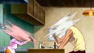 Setsuno jiro eating Ozon Herb's Instant pickles