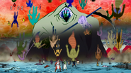 Death Sound defeats the Scum Beasts