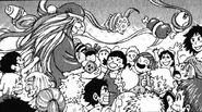 Sunny giving food as Gourmet Santa