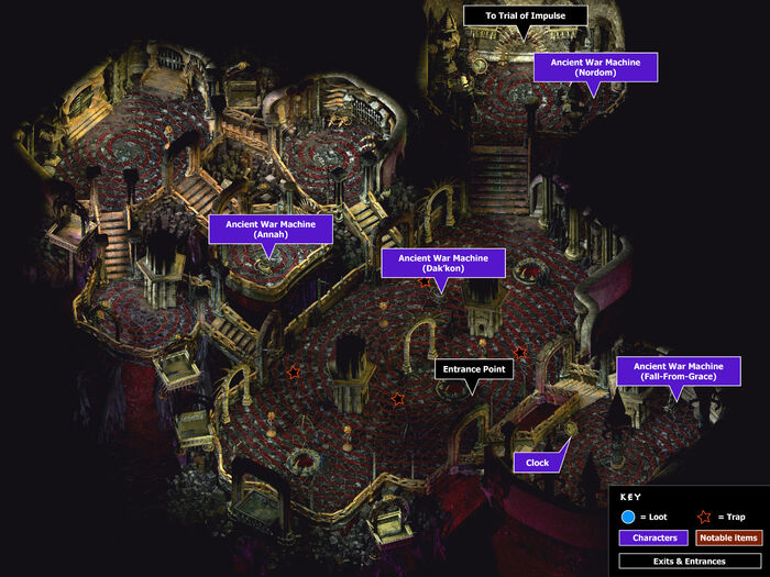Fortress of regrets main hall map