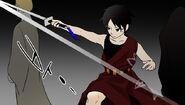 Hatsu-probando-su-espada