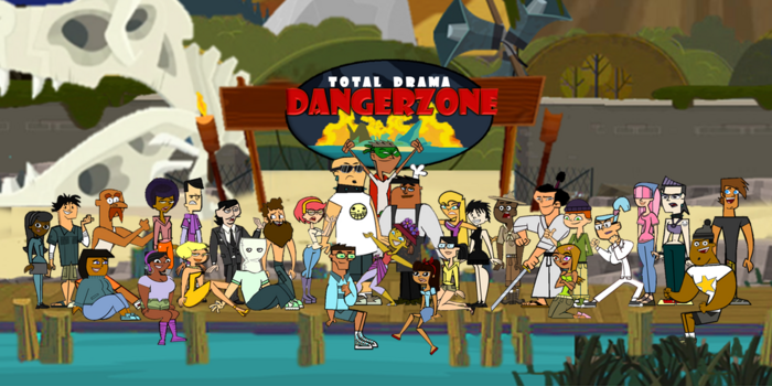 Total Drama Dangerzone Official Poster with Complete Cast