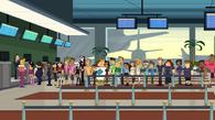 Teams at the airport