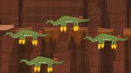 Flying crocs