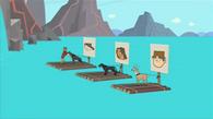 HS - Interns sets up animals