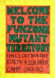 Fun zone sign