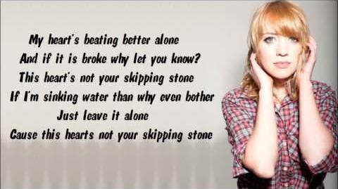 Alexz Johnson - Skipping Stone (Lyrics Video)