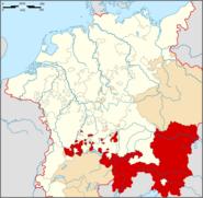 Archduchy of Austria location