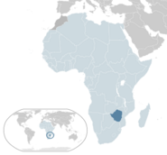 Location of Zimbabwe
