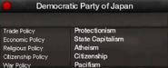 Democratic Party of Japan views