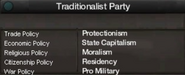 Traditionalist party