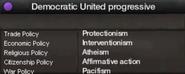 Democratic United progressive views