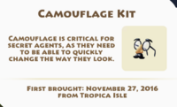Camouflage Kit Artifact