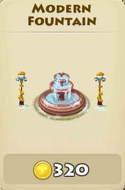 Modern fountain winter
