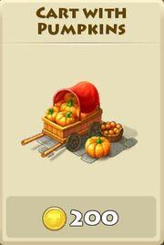 Cart with pumpkins
