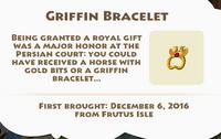 Griffin Bracelet Artifact
