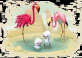 Flamingo Family