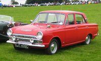 Ford Cortina MkI post facelift 4 door ca 1965