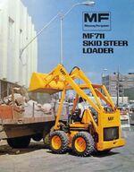 MF 711 skid-steer brochure - 1974