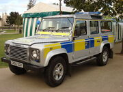 Land Rover Defender Sussex Police