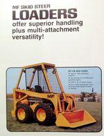 MF 711B skid-steer brochure - 1976