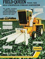 Hesston 7600 Field Queen forage harvester brochure