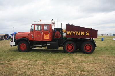 Scammell Contractor KAX 395P Renown Wynns (side) at Scammell gathering 09 - IMG 928