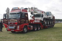 Volvo FH of J Swingler with Faun Crane at belvoir 2011 - IMG 3128