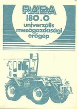 RÁBA 180 4WD brochure b&w