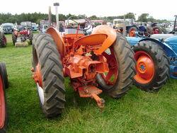 Case tractor rear