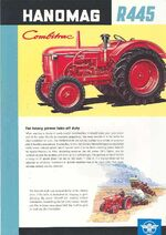 Hanomag R 445 Combitrac ad - 1959