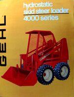 Gehl 4600 skid-steer (red) brochure