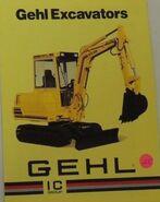 Gehl excavator brochure