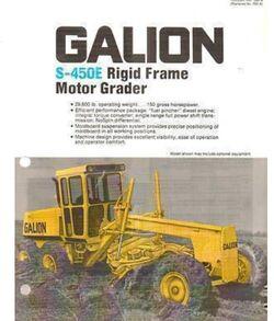 Galion S-450E grader brochure - 1984