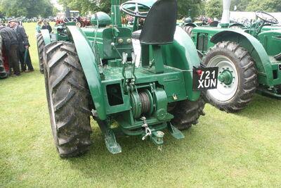 Field Marshall 9398 reg 721 XUN rear winch at Newby 09 - IMG 2503