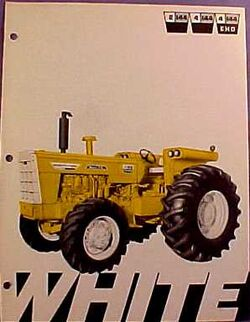 White 4-144 Mighty Tow Industrial MFWD ad - 1970