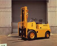 Toyota's first forklift