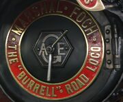 AGE logo on a Burrell Smoke box door - IMG 0487