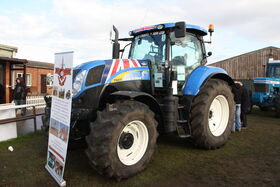 New Holland T6070 Blue Force banner at LAMMA 2012 - IMG 3617