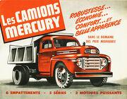 Mercury dump truck ad - 1949