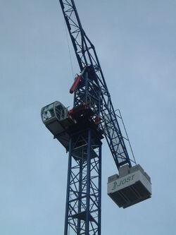Jost hydraulic luffing tower crane - DSCF0355-1