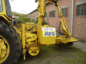 Hedge cutter on road rail converted tractor - PA040111