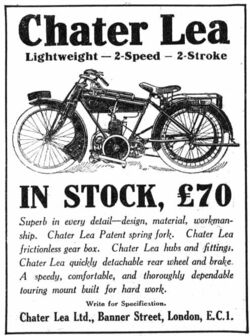 Chater lea advert