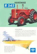 Hanomag R 545 Combitrac ad - 1959